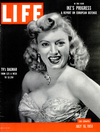Life Magazine Copyright 1951 TVs Dagmar | Sex Appeal Vintage Ads and Covers 1891-1970