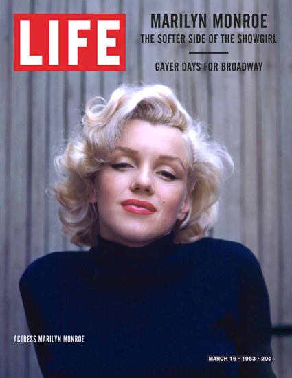 Life Magazine Copyright 1953-03 Marilyn Monroe | Sex Appeal Vintage Ads and Covers 1891-1970