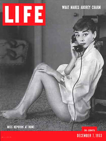 Life Magazine Copyright 1953 Audrey Hepburn At Home | Sex Appeal Vintage Ads and Covers 1891-1970