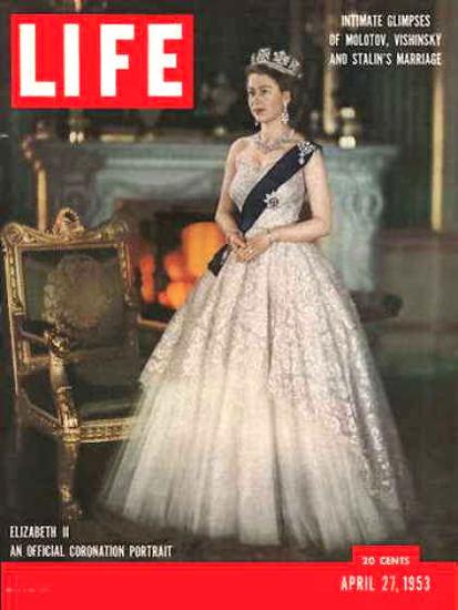 Life Magazine Copyright 1953 Elizabeth II Coronation | Vintage Ad and Cover Art 1891-1970