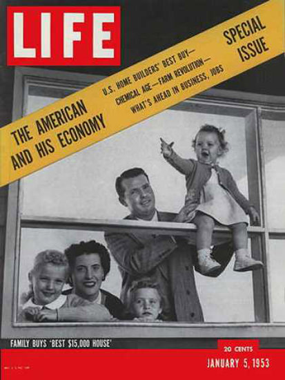 Life Magazine Copyright 1953 Family Buys Best House | Vintage Ad and Cover Art 1891-1970