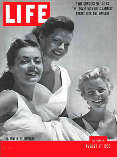 Life Magazine Copyright 1953 Hollywood Pretty Wittlingers | Sex Appeal Vintage Ads and Covers 1891-1970