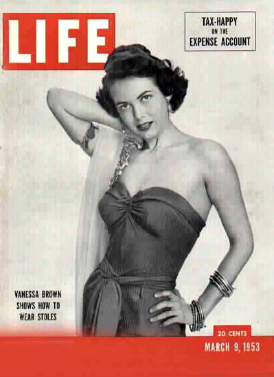 Life Magazine Copyright 1953 Vanessa Brown | Sex Appeal Vintage Ads and Covers 1891-1970