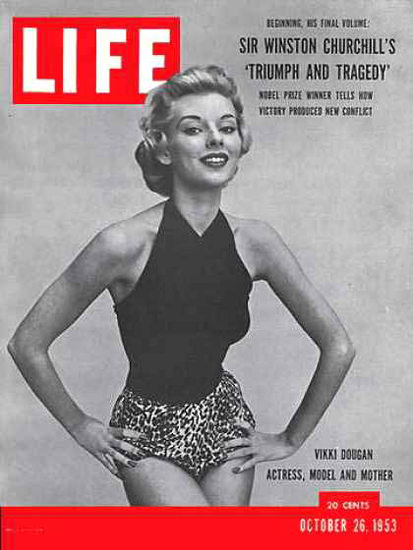 Life Magazine Copyright 1953 Vikki Dougan Actress Model | Sex Appeal Vintage Ads and Covers 1891-1970