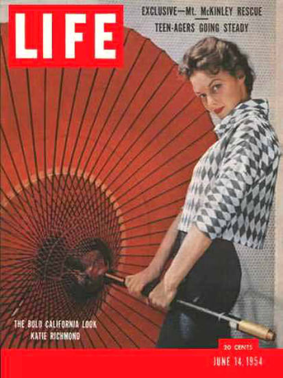 Life Magazine Copyright 1954 California Katie Richmond   Sex Appeal Vintage Ads and Covers 1891-1970