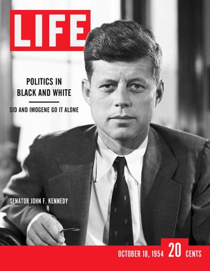 Life Magazine Copyright 1954 John F Kennedy Black White | Vintage Ad and Cover Art 1891-1970