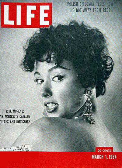 Life Magazine Copyright 1954 Rita Moreno Catalog Of Sex | Sex Appeal Vintage Ads and Covers 1891-1970