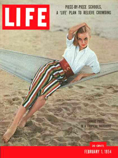 Life Magazine Copyright 1954 Tropical Canvas Pants | Sex Appeal Vintage Ads and Covers 1891-1970