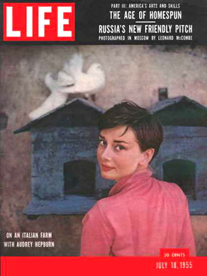 Life Magazine Copyright 1955 Audrey Hepburn Italian Farm | Sex Appeal Vintage Ads and Covers 1891-1970