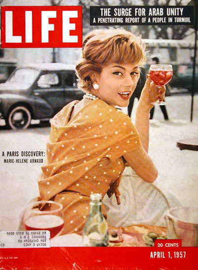 Life Magazine Copyright 1957 Marie-Helene Arnaud   Sex Appeal Vintage Ads and Covers 1891-1970