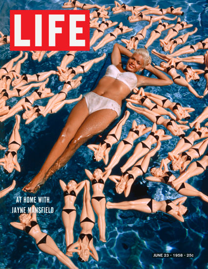 Life Magazine Copyright 1958 At Home Jayne Mansfield | Sex Appeal Vintage Ads and Covers 1891-1970