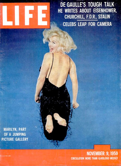 Life Magazine Copyright 1959 Marilyn Monroe Gallery | Sex Appeal Vintage Ads and Covers 1891-1970