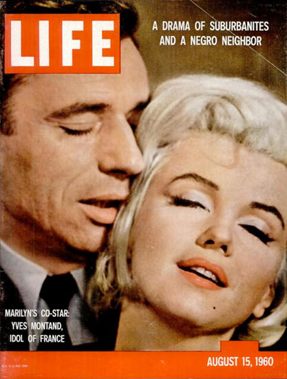 Life Magazine Copyright 1960 Marilyn Monroe Montand | Sex Appeal Vintage Ads and Covers 1891-1970