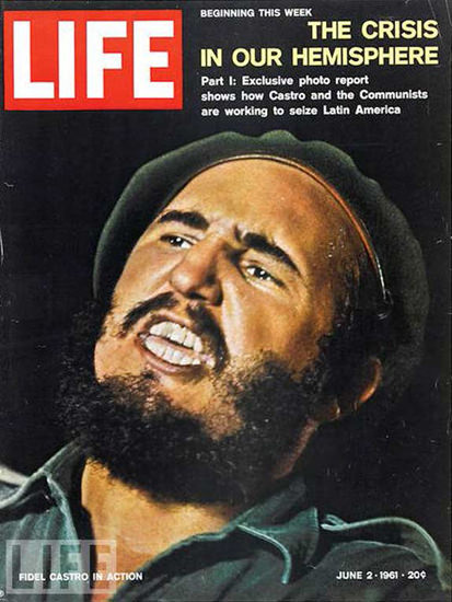 Life Magazine Copyright 1961 Fidel Castro The Crisis | Vintage Ad and Cover Art 1891-1970