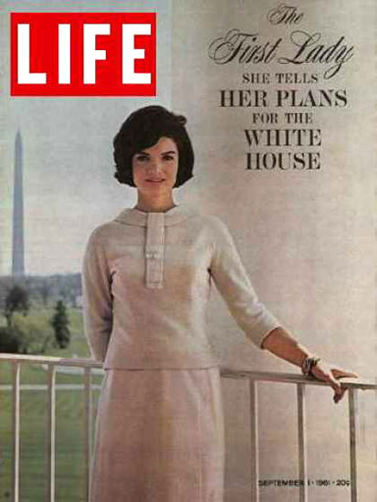 Life Magazine Copyright 1961 Jacqueline Kennedy Plans | Vintage Ad and Cover Art 1891-1970