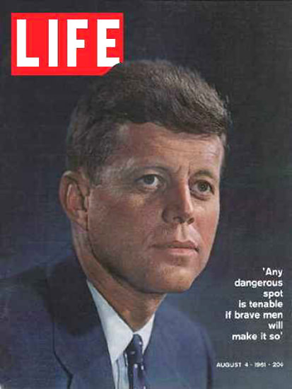 Life Magazine Copyright 1961 Kennedy Dangerous Spot | Vintage Ad and Cover Art 1891-1970