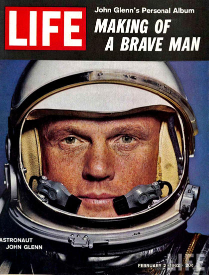 Life Magazine Copyright 1962 Astronaut John Glenn | Vintage Ad and Cover Art 1891-1970