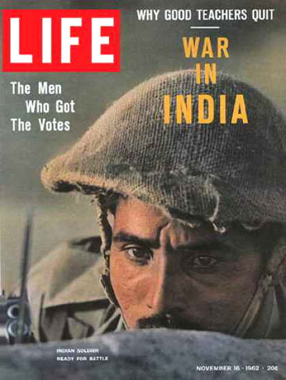 Life Magazine Copyright 1962 China Invades India War | Vintage Ad and Cover Art 1891-1970