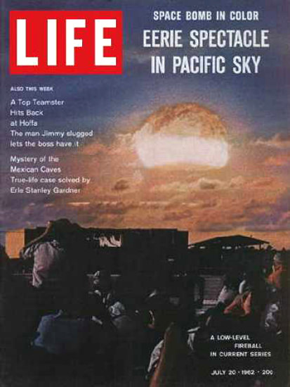 Life Magazine Copyright 1962 H-Bomb Tests In Pacific Sky | Vintage Ad and Cover Art 1891-1970