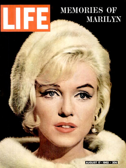 Life Magazine Copyright 1962 Marilyn Monroe Memories | Sex Appeal Vintage Ads and Covers 1891-1970