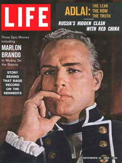 Life Magazine Copyright 1962 Marlon Brando The Bounty   Sex Appeal Vintage Ads and Covers 1891-1970