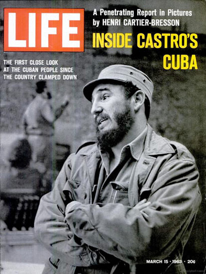 Life Magazine Copyright 1963 Fidel Castro Cuba Inside | Vintage Ad and Cover Art 1891-1970