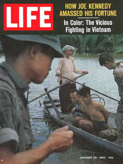 Life Magazine Copyright 1963 Mekong Delta Fighting | Vintage Ad and Cover Art 1891-1970