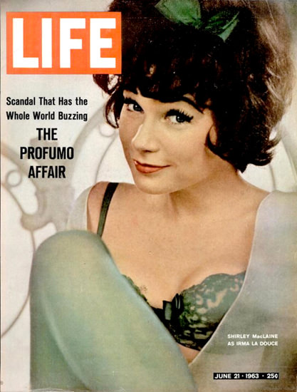 Life Magazine Copyright 1963 Shirley MacLaine Irma | Sex Appeal Vintage Ads and Covers 1891-1970