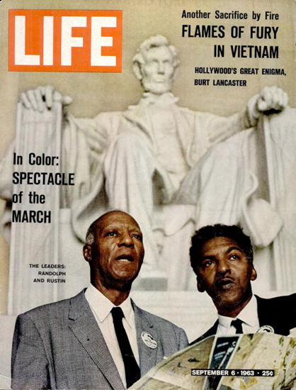 Life Magazine Copyright 1963 The March Randolph Rustin | Vintage Ad and Cover Art 1891-1970