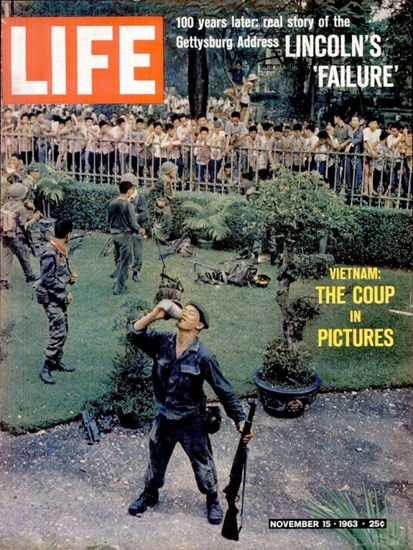 Life Magazine Copyright 1963 Vietnam The Coup In Pictures | Vintage Ad and Cover Art 1891-1970