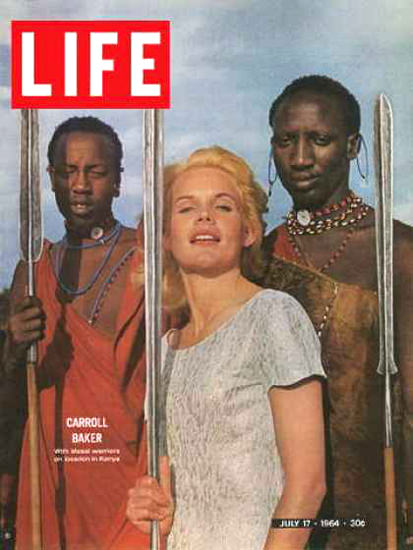 Life Magazine Copyright 1964 Actress Carroll Baker Massai | Sex Appeal Vintage Ads and Covers 1891-1970