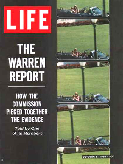 Life Magazine Copyright 1964 Assassination Warren Report   Vintage Ad and Cover Art 1891-1970