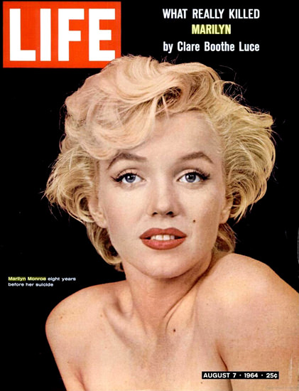 Life Magazine Copyright 1964 Marilyn Monroe | Sex Appeal Vintage Ads and Covers 1891-1970