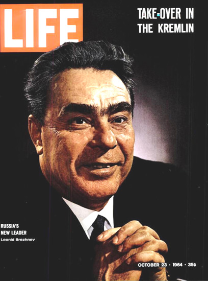 Life Magazine Copyright 1964 Russias New Leader | Vintage Ad and Cover Art 1891-1970