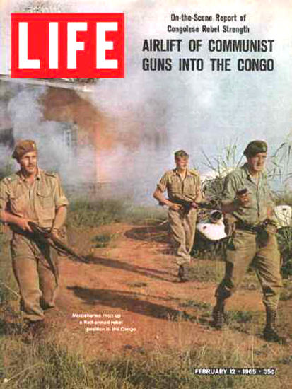 Life Magazine Copyright 1965 Communist Guns Into Congo | Vintage Ad and Cover Art 1891-1970