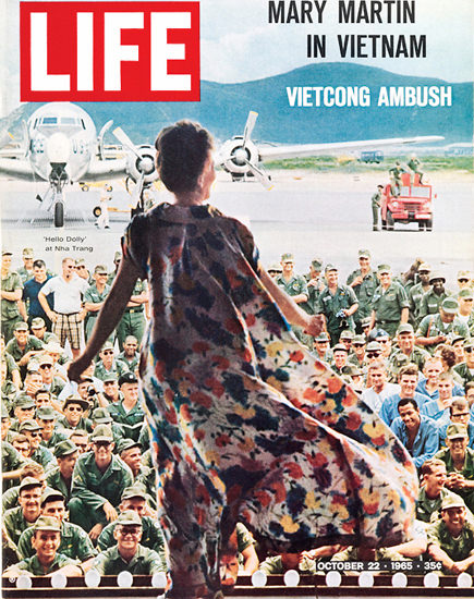 Life Magazine Copyright 1965 Mary Martin In Vietnam | Vintage Ad and Cover Art 1891-1970