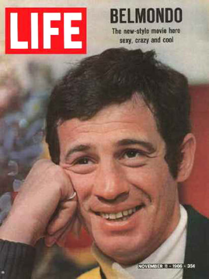 Life Magazine Copyright 1966 Jean-Paul Belmondo Sexy   Sex Appeal Vintage Ads and Covers 1891-1970