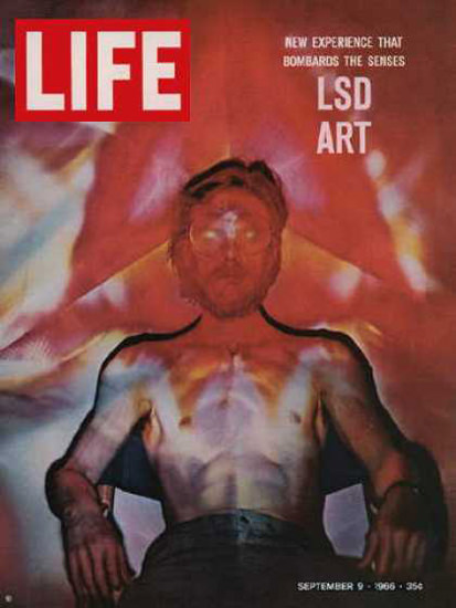 Life Magazine Copyright 1966 LSD Art New Experience | Vintage Ad and Cover Art 1891-1970