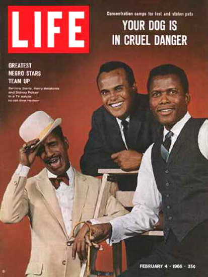 Life Magazine Copyright 1966 Sammy Davis Harry Belafonte | Sex Appeal Vintage Ads and Covers 1891-1970
