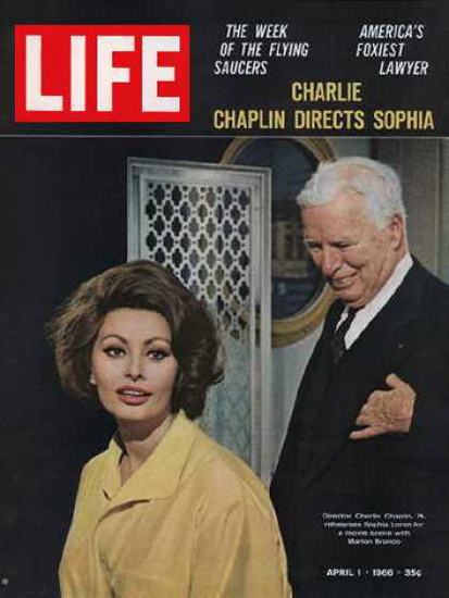 Life Magazine Copyright 1966 Sophia Loren Charlie Chaplin | Vintage Ad and Cover Art 1891-1970