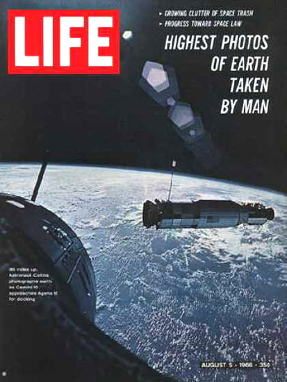 Life Magazine Copyright 1966 Views From Gemini 10 | Vintage Ad and Cover Art 1891-1970