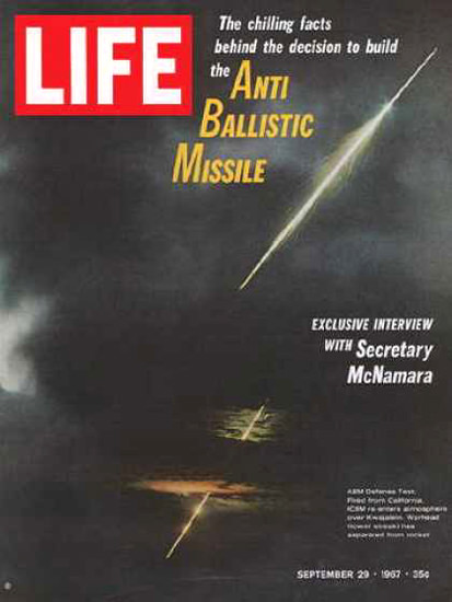 Life Magazine Copyright 1967 Anti Ballistic Missile Test | Vintage Ad and Cover Art 1891-1970