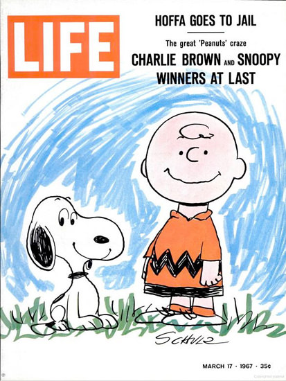 Life Magazine Copyright 1967 Charlie Brown And Snoopy | Sex Appeal Vintage Ads and Covers 1891-1970