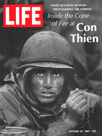 Life Magazine Copyright 1967 GI At Con Thien David Ducan | Vintage Ad and Cover Art 1891-1970