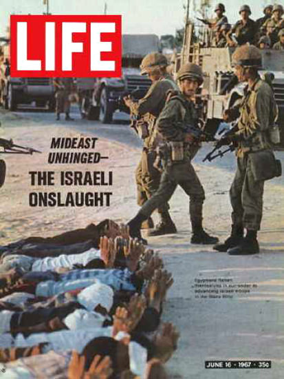 Life Magazine Copyright 1967 Israeli Troops Take Prisoners | Vintage Ad and Cover Art 1891-1970