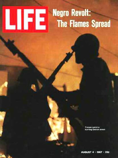 Life Magazine Copyright 1967 Negro Revolt Troops Detroit | Vintage Ad and Cover Art 1891-1970