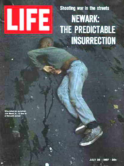 Life Magazine Copyright 1967 Newark Riots Insurrection | Vintage Ad and Cover Art 1891-1970