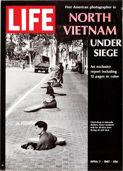 Life Magazine Copyright 1967 North Vietnam Under Siege | Vintage Ad and Cover Art 1891-1970