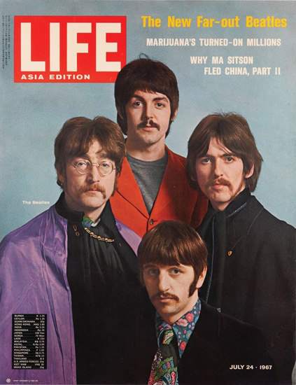 Life Magazine Copyright 1967 The New Far-Out Beatles | Vintage Ad and Cover Art 1891-1970