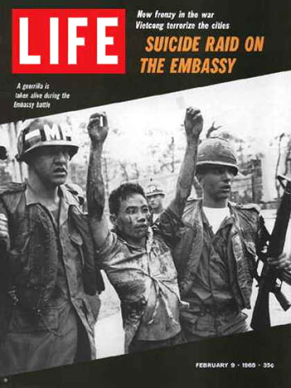 Life Magazine Copyright 1968 Captured Vietcong Guerillas | Vintage Ad and Cover Art 1891-1970